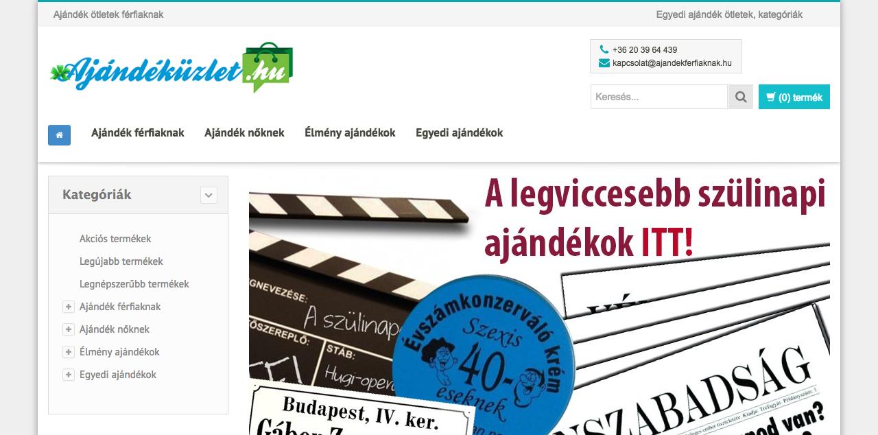 www.ajandekuzlet.hu